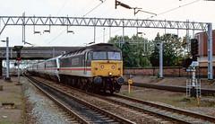 47 848 arriving at Nuneaton. 1991. (Marra Man) Tags: nuneaton nuneatonstation intercity class47 class478 47848