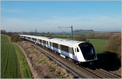 Top of the Wolds (Resilient741) Tags: old dalby test track elizabeth line london overground crossrail class 345 34505 tfl transport for stanton nottinghamshire a606 railway br british rail emu electric multiple unit uk united kingdom nottingham railways train railroad