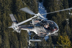 H130 helicopter take off at Courchevel mountain heliport, February 2019 (André Bour - Helico Passion) Tags: helicopter courchevel airbushelicopters h130 fhjtd ec130