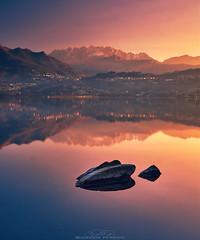 Rising Sun | Annone lake (Davide Perego) Tags: sonya6000 sonyalpha sony2870 captureone hoyapro1cpl italy lombardia brianza lagodiannone landscapephotography lake mountains sunrise
