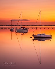Sundown. (Andrew J Hulson) Tags: nikon landscapes seascapes england yachts boats lovelangstone hampshire portsmouth langstoneharbour solent chichesterharbour