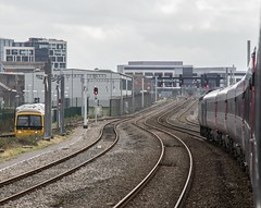 Approaching Cardiff (Dai Lygad) Tags: trains railways railroads highspeedtrains gwr greatwesternrailway 16thfebruary2019 jeremysegrott flickr flickrstock photos photographs pictures images hst 43018 43156