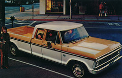 1975 F250 Ranger XLT Supercab Promotional Postcard from Barile Ford - Valparaiso, Indiana (Shook Photos) Tags: postcard postcards chrome chromepostcard chromepostcards chromelithograph car cars auto automobile automobiles barileford ford valparaisoindiana valparaiso indiana portercounty cardealer cardealership dealership