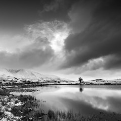 Tewet tarn cold morning mono 2 (Alf Branch) Tags: mono mountains morning landscape lakes lakedistrict lake lakesdistrict leicadg818mmf284 bw blackandwhite cumbria clouds cumbrialakedistrict calmwater snow winter water olympus omd olympusomdem5mkii alfbranch