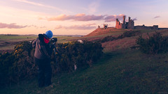 Artist At Work (ttarpd) Tags: dunstanburgh castle northumberland beach embleton bay north east england uk coast sea water rock shore tide seascape landscape sunset sundown sundowner dusk twilight eventide portrait
