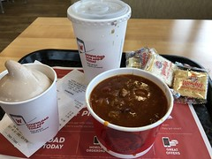 c2019 Feb 23, Eating lunch at Wendy's IPhoneography 10 (King Kong 911) Tags: food chili frosty coke crackers dining wendy