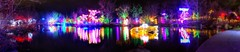 River of Lights Reflections (JoelDeluxe) Tags: rol riveroflights abq biopark nm december 2018 albuquerque biological park pnm light display colors lights sculptures fantasy newmexico hdr joeldeluxe