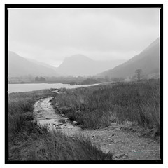 Crummock_Water_HP5-2 (D_M_J) Tags: crummock water lake district lakedistrict lakeland cumbria landscape north west film camera 120 medium format 6x6 square roll hasselblad 500 cm 80mm ilford hp5 plus 400 kodak hc110 epson v850 vuescan black white bw blackandwhite mono monochrome