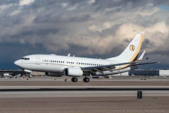 Ruffin BBJ (dmeg180) Tags: plane airplane aircraft jet boeing bbj 737 lasvegas klas las runway mccarran nevada nikon d500 70200mm