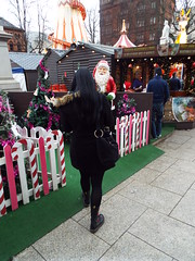 Belfast Christmas Market and Festivities December 2018 (sean and nina) Tags: belfast northern ireland north eire irish uk united kingdom market festive season seasonal december 2018 winter outdoor outside stalls sale merchandise items people persons candid city centre trade traders food tourism tourists international entertainment street public toys clothes christmas nina wife married fiancee girlfriend girl female lady woman happy shopping walking unposed black coat fur face brown eyes pink lips boots dress tights nylon cold beauty beautiful gorgeous stunning charm charming cute