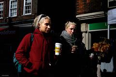 Three Blondes (Silver Machine) Tags: winchester hampshire streetphotography street candid candideyecontact girls blonde walking coffee straw highlights sunglasses fujifilm fujifilmxt10 fujinonxf35mmf2rwr