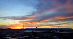 SeaTac Airport sunset (Aubrey Sun) Tags: seatac airport sea sunset seattle wa washington olympic mountains pacific northwest airplane