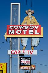 Cowboy up (dangr.dave) Tags: amarillo tx texas downtown historic architecture neon neonsign cowboymotel cowboy vaquero