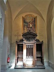 Confessional, Église Saint-Polycarpe, Lyon, France (Paul McClure DC) Tags: lyon france july2017 auvergnerhônealpes architecture historic church lacroixrousse
