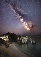 Durdle Door Milky Way (Nathan J Hammonds) Tags: durdle door dorset milky way stars skies dark astro astrophotography night photography landscape seascape nikon irex coast uk long exposure benro