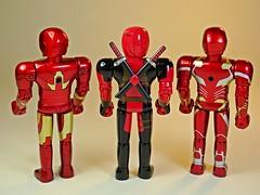 Bandai – Chogokin Heroes Series – Iron Man Mk 3, Deadpool & Iron Man Mk 50 – Back (My Toy Museum) Tags: bandai marvel heores diecast chogokin action figure iron man deadpool