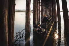 Dodge (Patrick Foto ;)) Tags: dodge ubeinbridge boat bridge countryside fisherman mandalay myanmar nature people river scenic water mandalayregion mm
