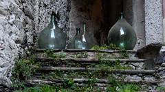 VOGLIA DI UN BICCHIERINO (Ferdinando Tubito) Tags: vogogna verbano cusio ossola piemonte italia castello 1348 montagna alberi abeti legno viti vino damigiane