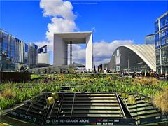 La Grande Arche - Paris La Défense (breizhphotographer) Tags: panorama paysage paris paisaje paesaggio paisagem défense defense arche grande 92 ile de france 75 building buildings immeuble gratte ciel