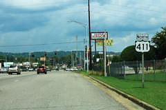 US411 North Sign - Gadsden (formulanone) Tags: alabama gadsden us411 411 usroute411