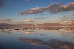 Great Salt Lake (Oleg S .) Tags: utah sunset nature reflection mountains sky usa lake water cloud greatsaltlake