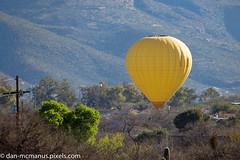 Hot Air Balloon landing (Kukui Photography) Tags: arizona canyon ranch hot air balloon tucson canyonranch hotairballoon