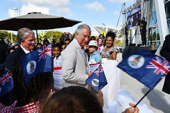 DepPremPoWSideglanceFlagseEJED (Cayman Islands Government Information Services) Tags: cayman royal visit charles prince wales camilla duchess cornwall owen roberts international airport united kingdom great britain