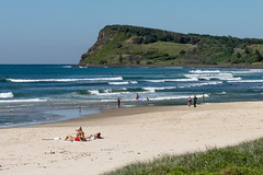 On the Beach (armct) Tags: beach surf sand head headland lennoxhead australia sun bathe bikini surfboard horizon skyline people recreation exercise