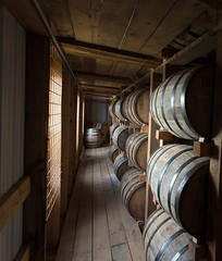 Aging with anticipation; bourbon in barrels at Lux Row Distillery in Bardstown,Kentucky (A  Train) Tags: nikond750 nikon tamronsp1530mmf28 tamron wideangle bourbon luxrow luxrowdistillery distillery rickhouse bourbonbarrel barrel whisky whiskey kentucky bardstown bardstownky leadinglines