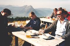Untersberg (John Steam) Tags: bergwanderung untersberg salzburg grödig schutzhütte zeppezauerhaus schwager nichte beata suppe bier scan