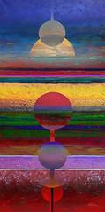 Horizon 02 - Jialba - 2014 (Jialba) Tags: jialba cosmos couleurs fantastique nature paysage spiritualité temps voyage horizon horizons vertical verticalité soleil planètes systèmesolaire solarsystem eclipse elipse eliptyque coordonées latitudes longitudes croix croisement intersection corpuscules corpusculaire crépuscule crépusculaire sunset aurore aube sunspot sunrise orbite orbital