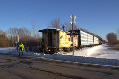 Pulling together....for you! (Rich Peters- foosqust) Tags: ysb52 haven caboose up railroad sheboygan