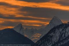 Abendrot am mächtigen Watzmann (Augenblicke vom Salzburger u. Berchtesgadener Land) Tags: salzburg österreich natur landschaft berchtesgadenerland bayern berge winter abendrot