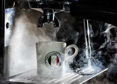 Ritual (Prestidigitizer) Tags: pentaxk3 sigmaexdg70mmmacro espresso steam steamwand morning shots latte machine caffeine coffee italia torrefazione italian
