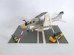 Lego A-6A Intruder (joopatkleppie) Tags: lego vietnam war aircraft build moc military allweather navy a6 intruder