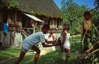 Sumatra, near Bukittinggi, village life