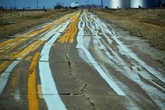 earned its stripes (David Sebben) Tags: abandoned highway warren illinois painting testing canvas stripes transportation