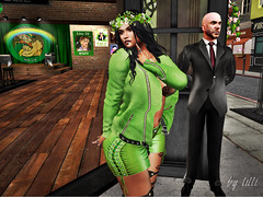 St.Patricks Day 2019 with V-Twins (LilliSue Resident) Tags: stpatricksday vtwins secondlife bikeroutfit milf foxcity genus maitreya truth