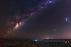 Milky Way at Sullivan Rock, Western Australia (inefekt69) Tags: milkyway skytracker ioptron cosmology southernhemisphere cosmos sullivan rock jarrahdale forest southern westernaustralia australia dslr long exposure rural nightphotography nikon stars astronomy space galaxy astrophotography outdoor milky way core great rift 50mm d5500 panorama stitched mosaic nature landscape msice hoya red intensifier didymium filter magellanic clouds large small carina nebula airglow