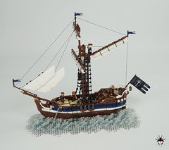 Numenorean sailship Eämbar - side (Barthezz Brick) Tags: boat ship sailboat sailship lotr middleearth middle earth lordoftherings tolkien mariners seamen fantasy medieval moc afol barthezz brick barthezzbrick lond daer