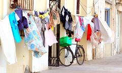 Laundry Day in Havana (mandalaybus) Tags: havana lahabana habana bike bikes bicycle bicycles laundry laundryday entrance entrances streetscape streetscapes street streets 5photosaday