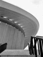 Curves, Stripes, and Lines (ucn) Tags: schwangereauster hausderkulturenderwelt tiergarten berlin architecture architektur zeissikondonata2277u 9x12 tessar135cmf45 adoxadoluxatm49 adoxchs100ii filmdev:recipe=12236 developer:brand=adox developer:name=adoxadoluxatm49