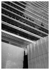 Torre Mapfre Detail (Dave Button) Tags: barcelona torremapfre portolympic puertoolympico bw mono monochrome spain catalunya building architecture buildings fuj fujifilm xe2s xe2 bnw blackwhite greyscale grayscale catalonia travel