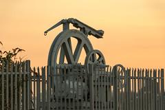 Enderby Wharf (Crisp-13) Tags: enderby wharf cable gear greenwich london sunset sun set wheel