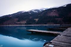 Bittere Kälte (Mario2304) Tags: landscape water lake wood mountain trees rope nd canon 750d landschaft wasser see holz berg baum steeg seil