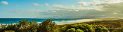 Approaching storm as the sun sets - Port Kembla Beach, NSW, Australia (Peter.Stokes) Tags: australia australian colour landscape native nature outdoors photography summer vacations trees river sky landscapes photo panorama portkemblabeach portkembla