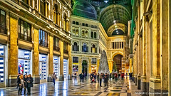 Naples, Italy: Galleria Umberto I shopping center (nabobswims) Tags: campania galleriaumberto hdr highdynamicrange ilce6000 it italia italy lightroom mirrorless nabob nabobswims naples napoli night nightfoto photomatix sel18105g shoppingcenter sonya6000