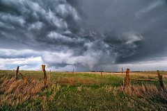 Before it Became a Wede (Kirby Wright) Tags: tescott wedge tornado cone stovepipe meso mesocyclone supercell thunderstorm wall cloud field fence kansas central plains alley funnel turbulent nature weather spring may 2018 grass fields blue core storm chaser violent beautiful chase nikon d700 rokinon 14mm f28 ultra super wide angle manfrotto tripod