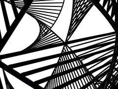 Abstract Silhouette (2n2907) Tags: abstract silhouette pergola modern geometry graphic blackwhite minimal bw minimalism simple shapes high contrast monochrome