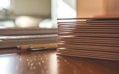 Mounted Prints (Mandy Willard) Tags: 365 0703 prints mounts cutter pencil ruler
